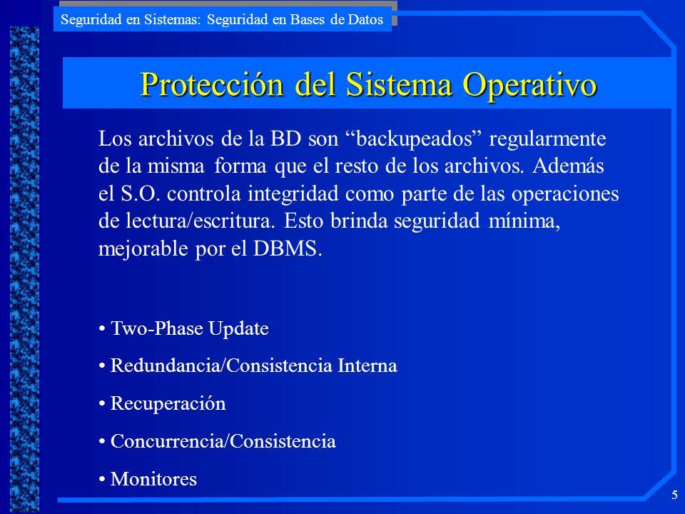 Protección del Sistema Operativo