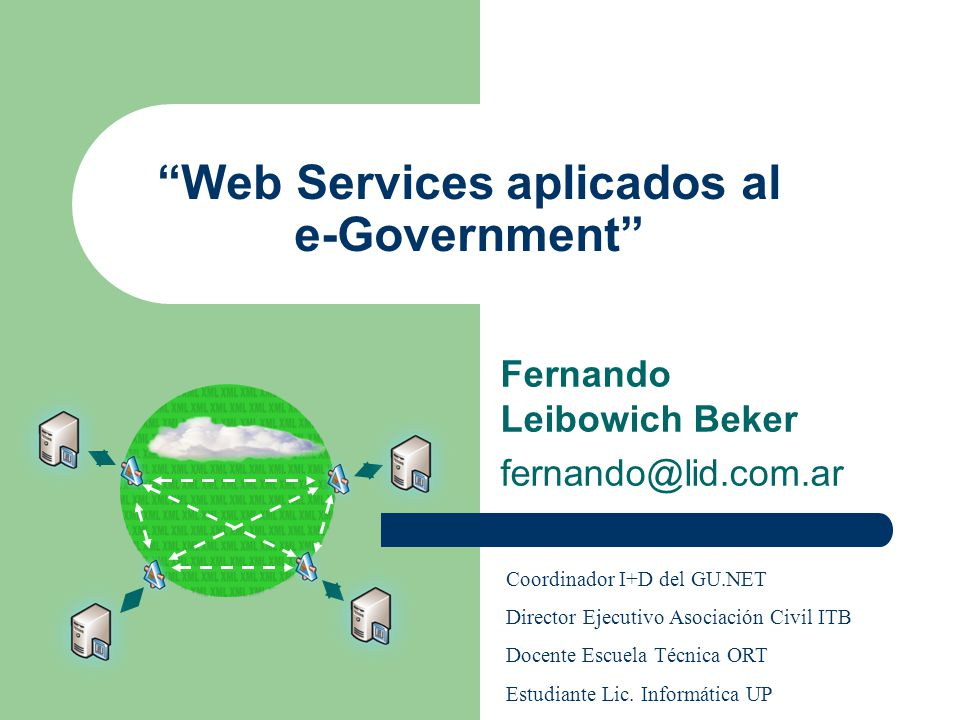 Web Services aplicados al e-Government