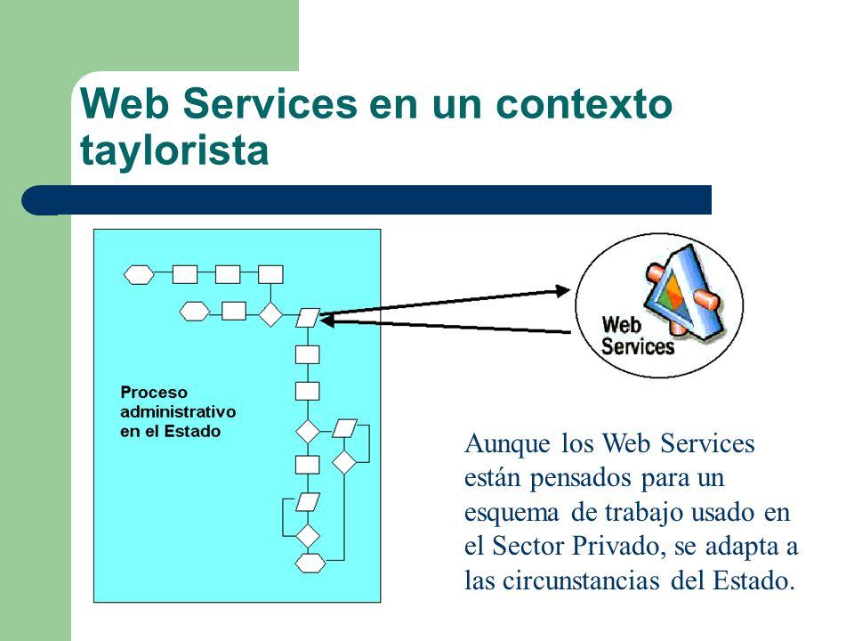 Web Services en un contexto taylorista