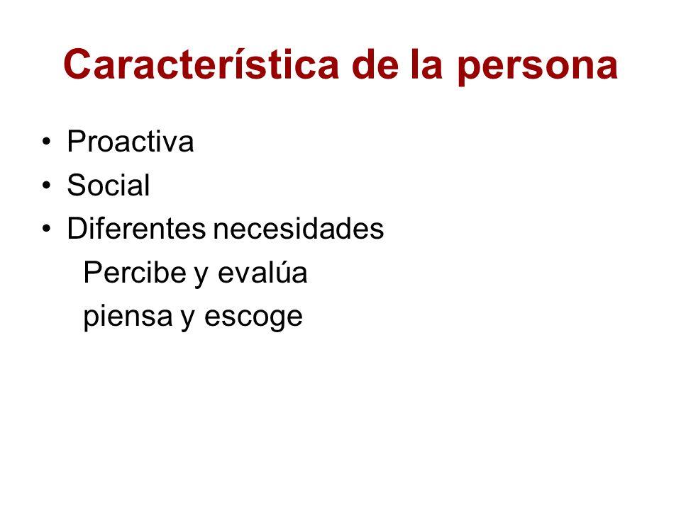 Característica de la persona