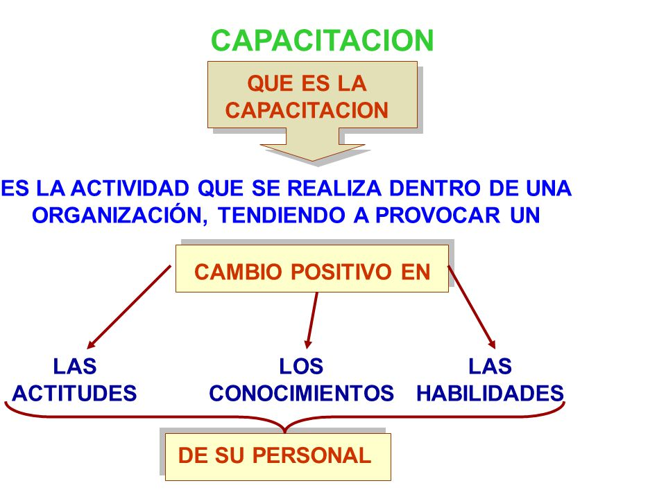 CAPACITACION QUE ES LA CAPACITACION