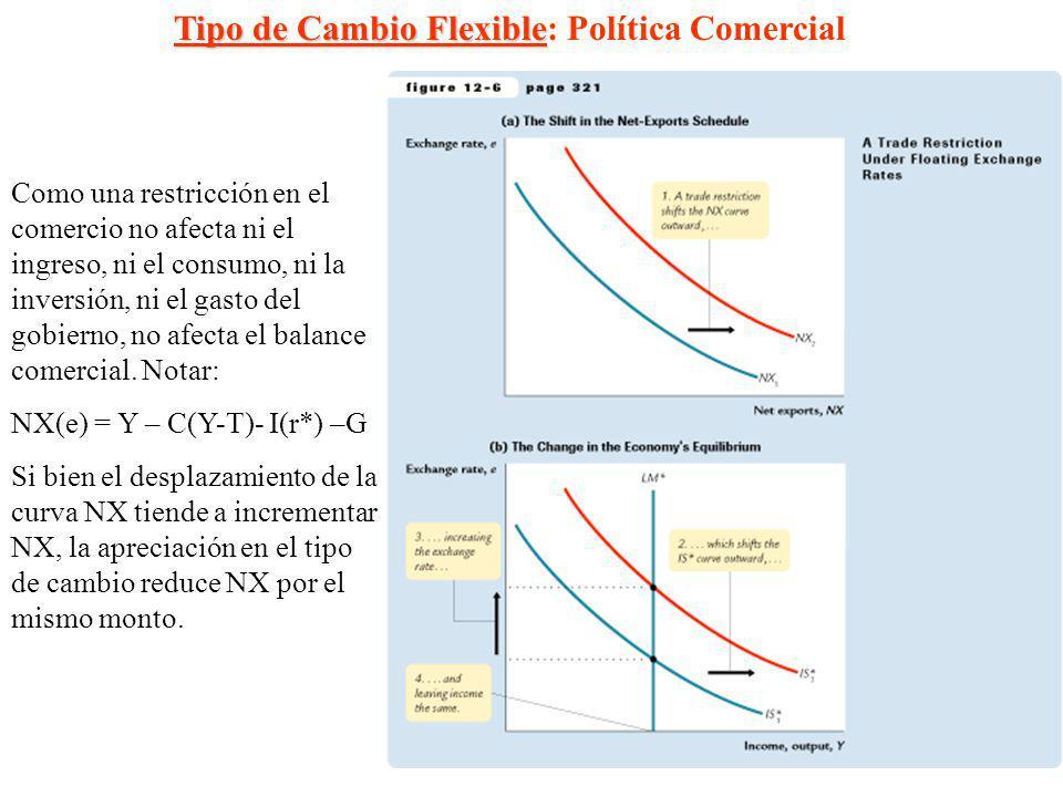Tipo de Cambio Flexible: Política Comercial