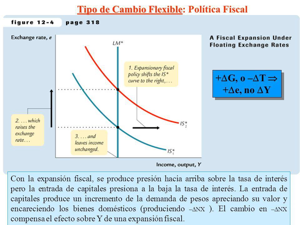 Tipo de Cambio Flexible: Política Fiscal