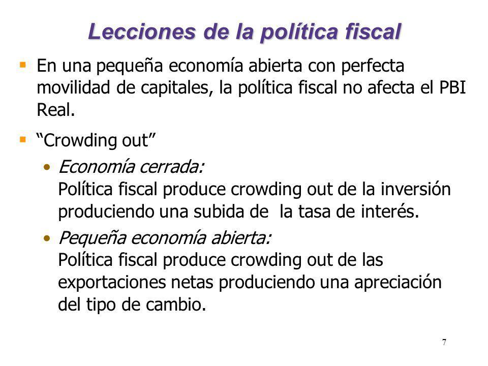 Lecciones de la política fiscal