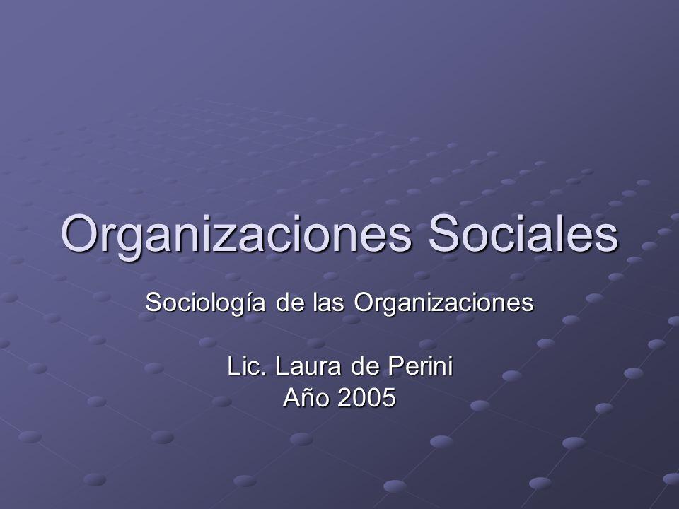 Organizaciones Sociales