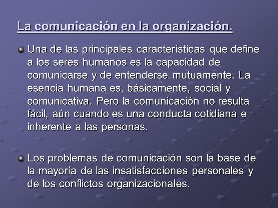 La comunicación en la organización.