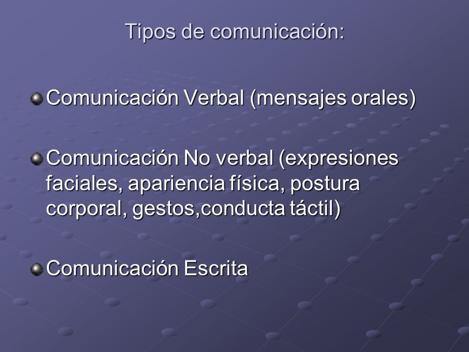 Tipos de comunicación: