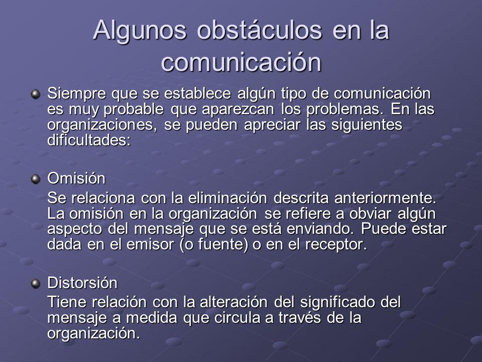 Algunos obstáculos en la comunicación