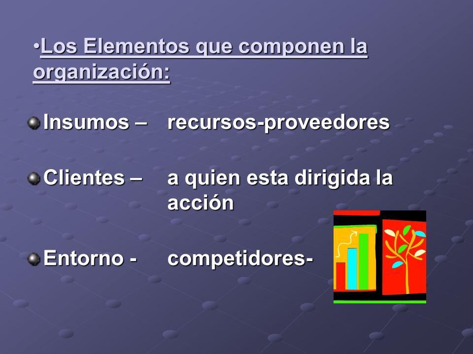 Los Elementos que componen la organización:
