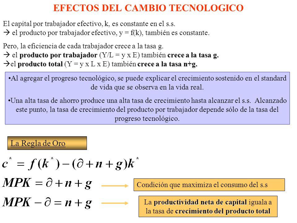 EFECTOS DEL CAMBIO TECNOLOGICO