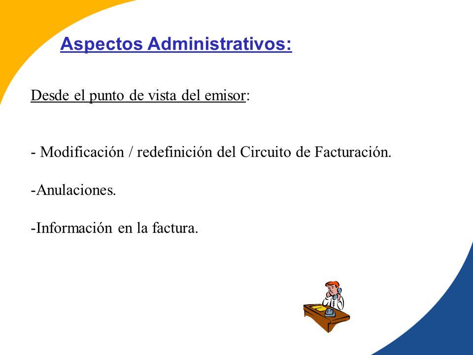 Aspectos Administrativos: