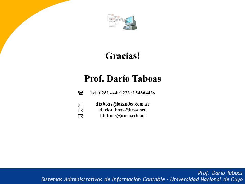 Gracias! Prof. Darío Taboas