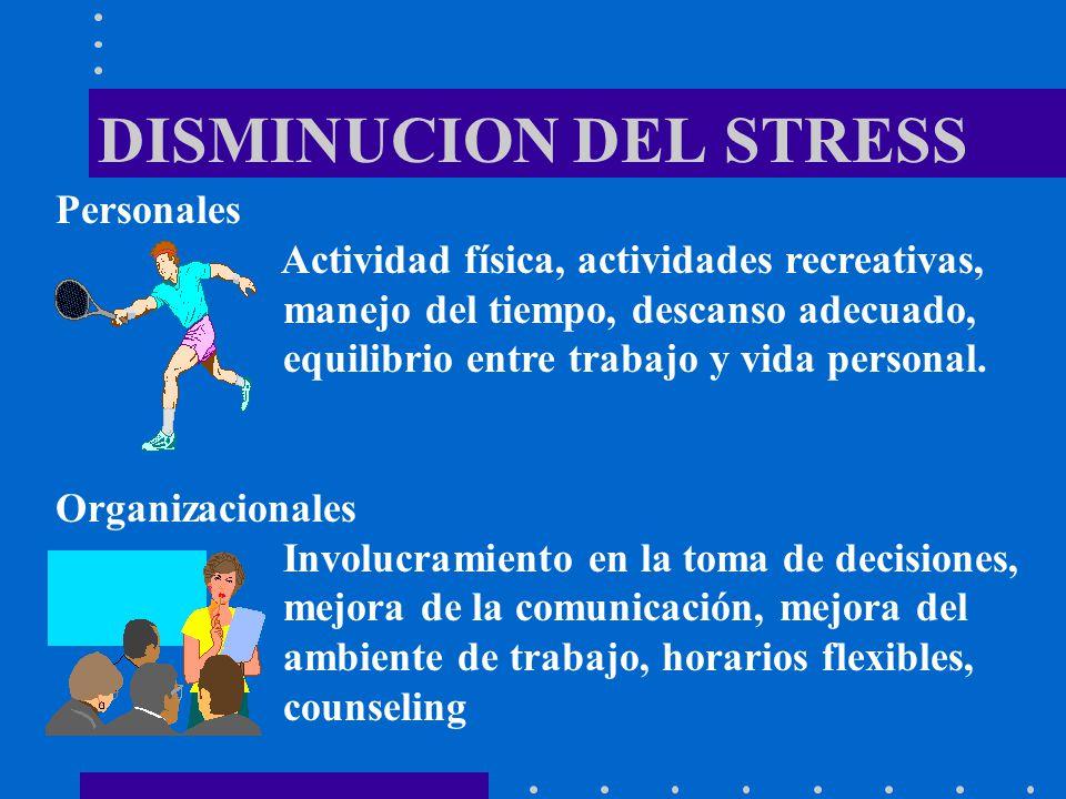 DISMINUCION DEL STRESS