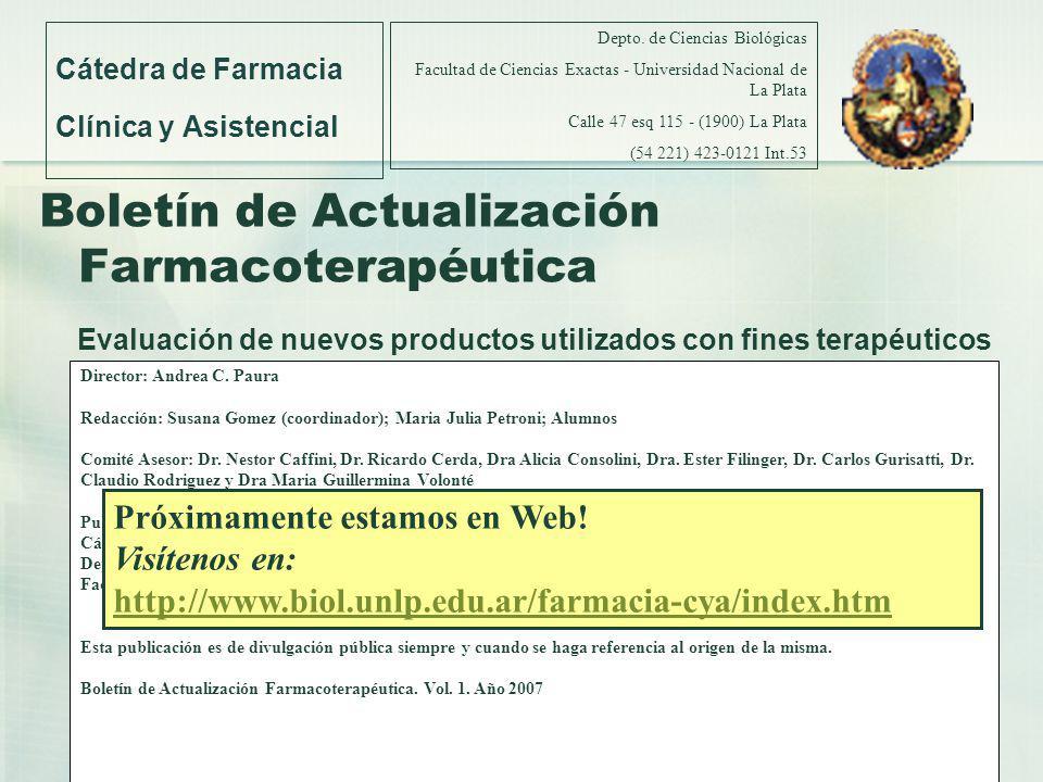 Cátedra de Farmacia Clínica y Asistencial