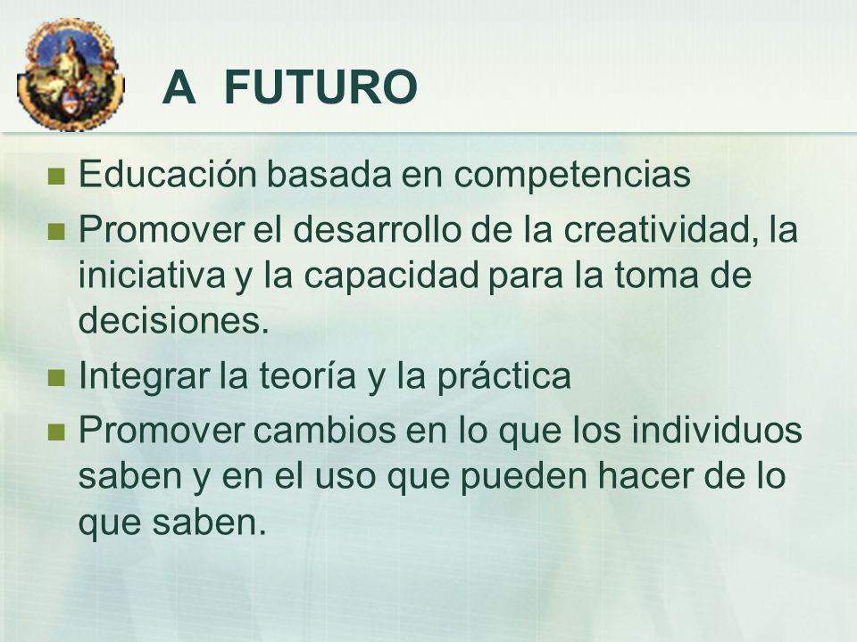 A FUTURO Educación basada en competencias