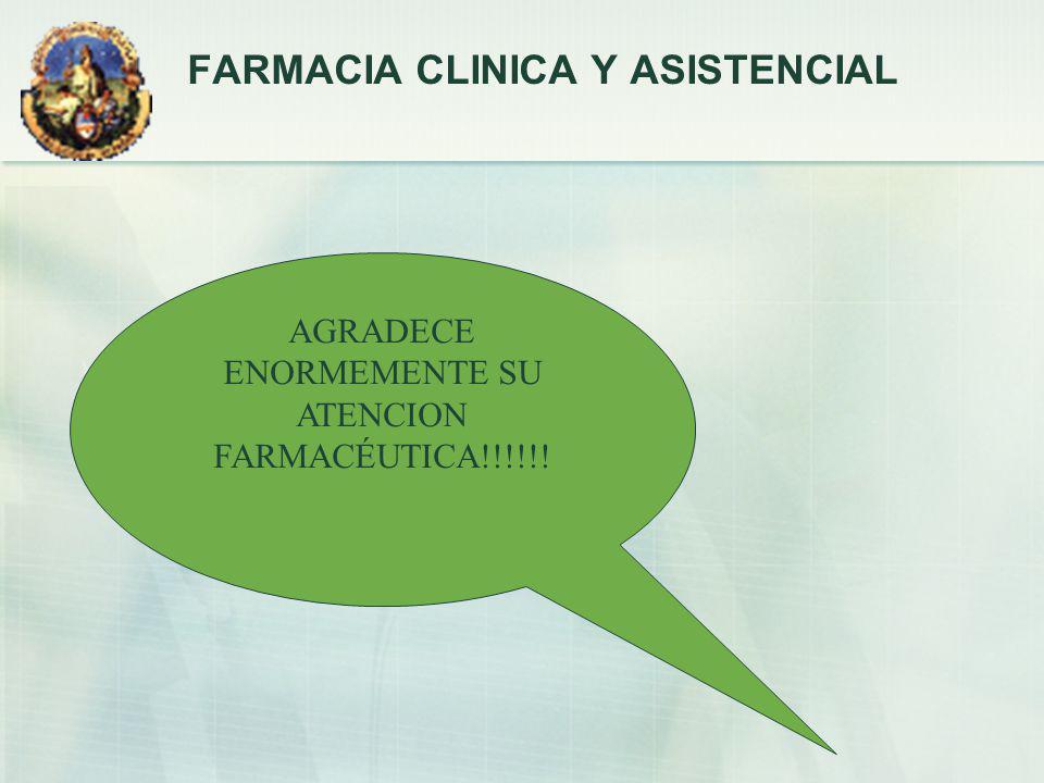FARMACIA CLINICA Y ASISTENCIAL