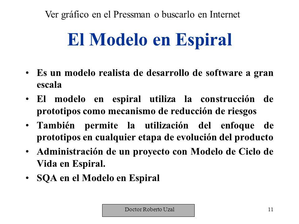 El Modelo en Espiral Ver gráfico en el Pressman o buscarlo en Internet