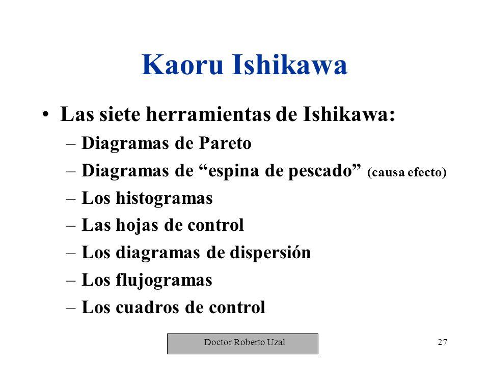 Kaoru Ishikawa Las siete herramientas de Ishikawa: Diagramas de Pareto