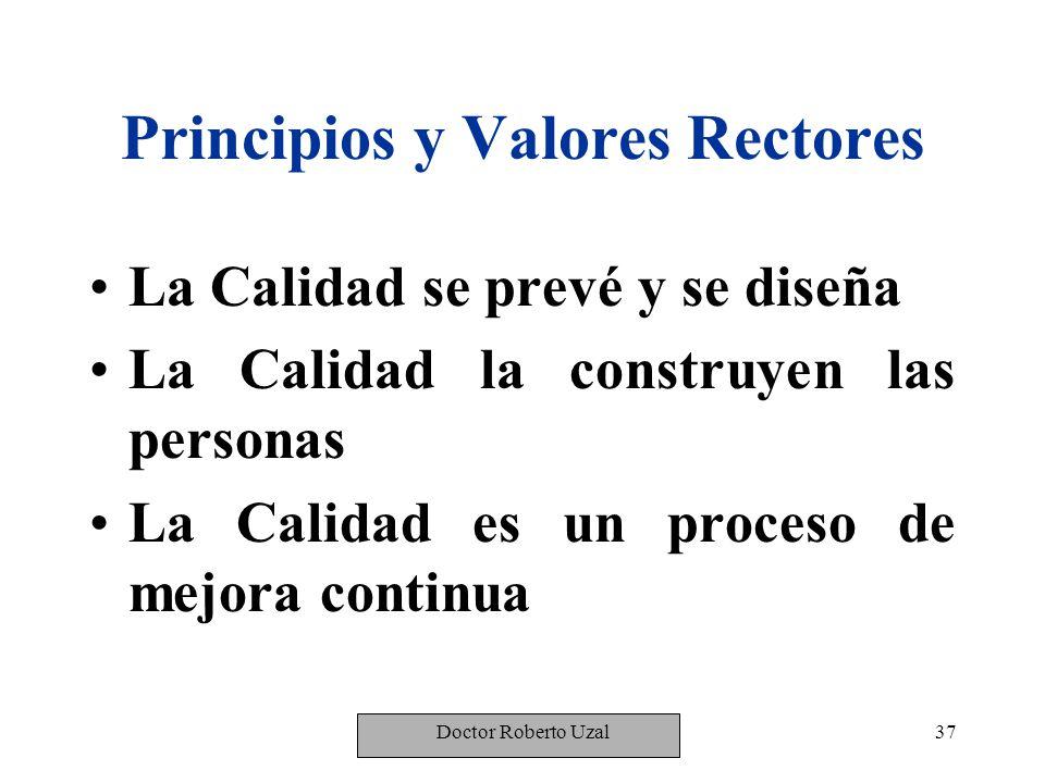 Principios y Valores Rectores