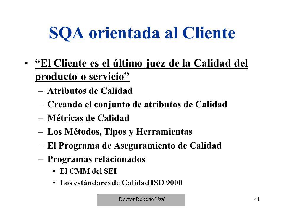 SQA orientada al Cliente