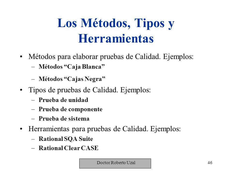 Los Métodos, Tipos y Herramientas