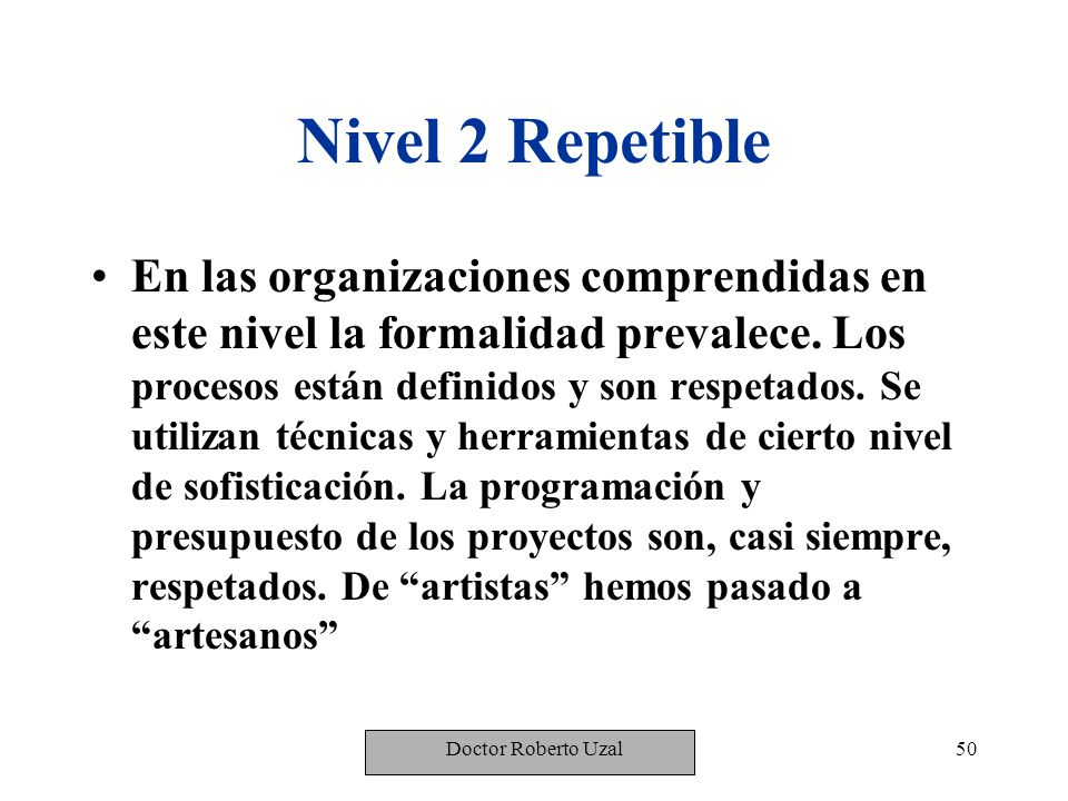 Nivel 2 Repetible