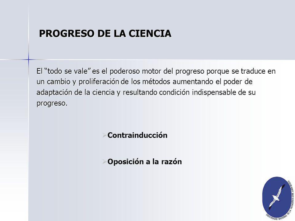 PROGRESO DE LA CIENCIA