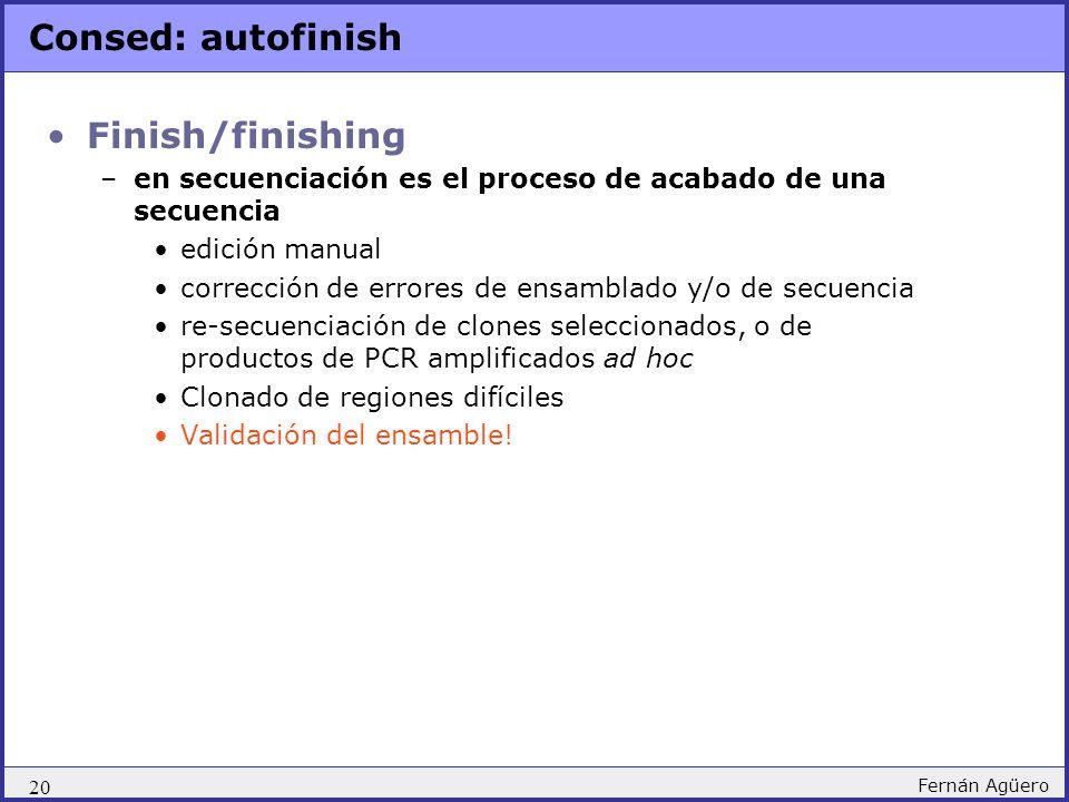 Consed: autofinish Finish/finishing