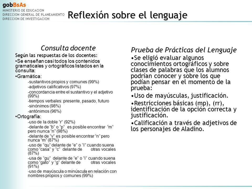 Reflexión sobre el lenguaje