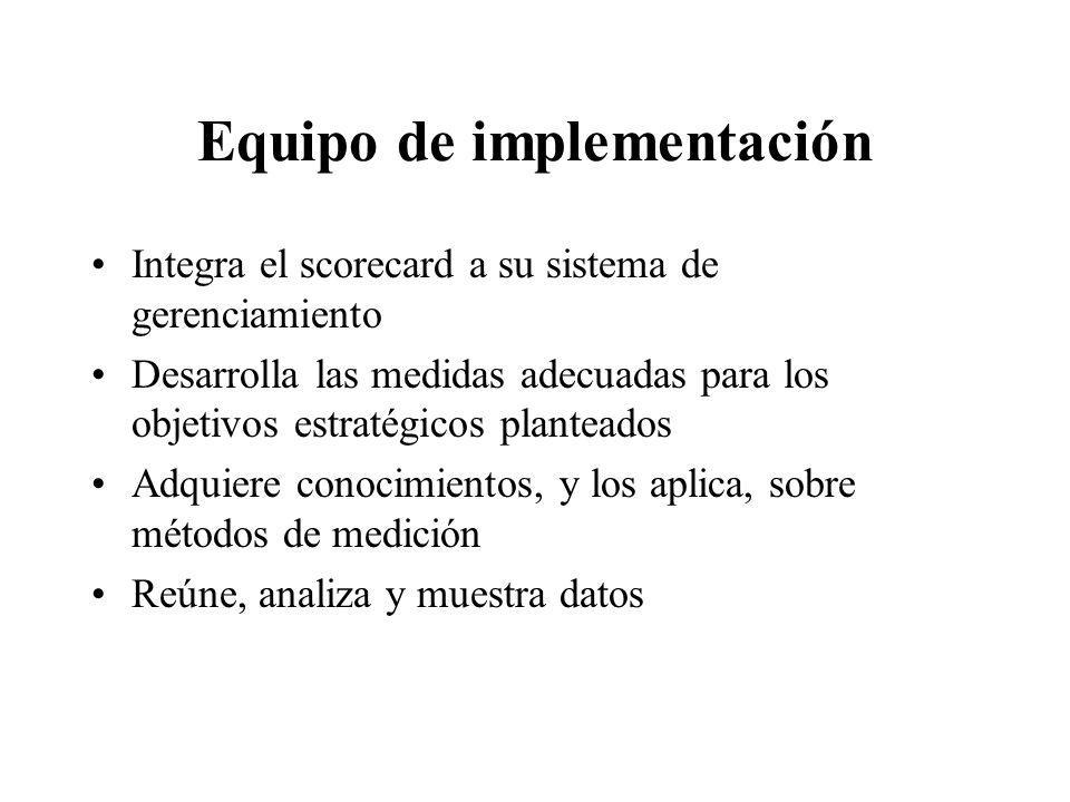Equipo de implementación