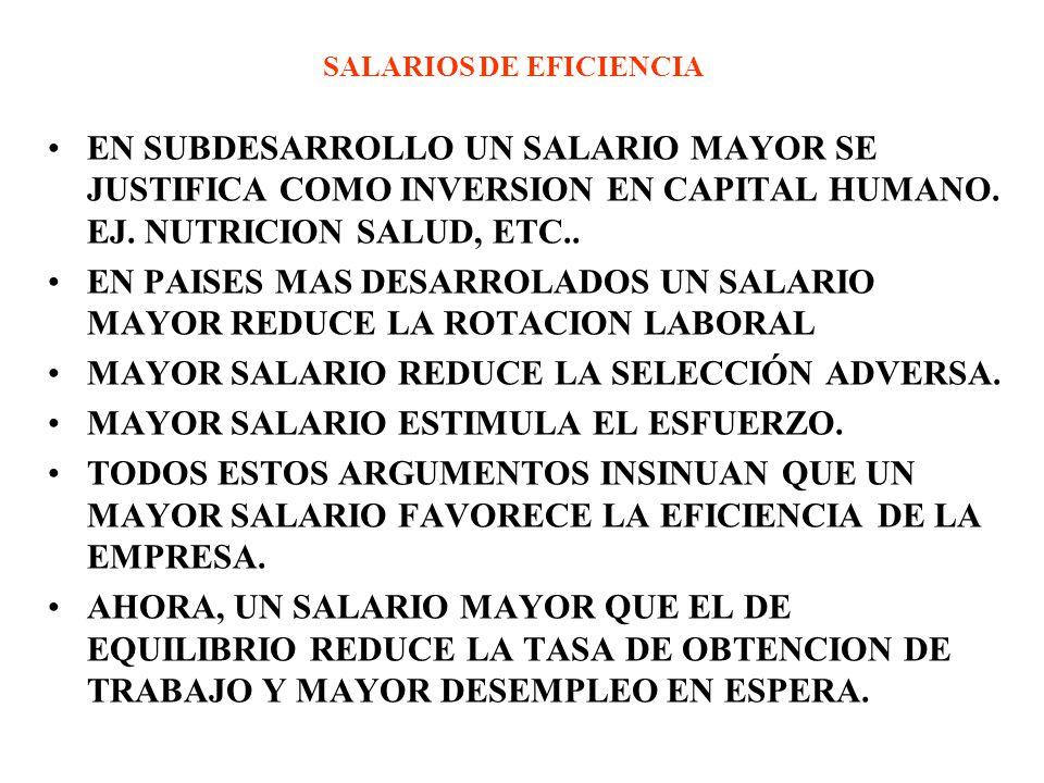 SALARIOS DE EFICIENCIA