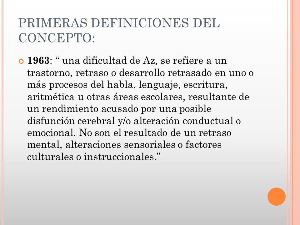 PRIMERAS DEFINICIONES DEL CONCEPTO: