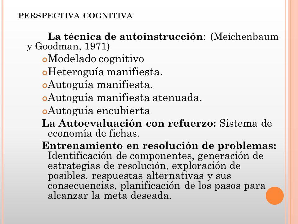 Heteroguía manifiesta. Autoguía manifiesta.