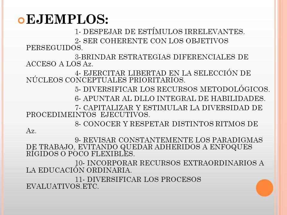 EJEMPLOS: 2- SER COHERENTE CON LOS OBJETIVOS PERSEGUIDOS.