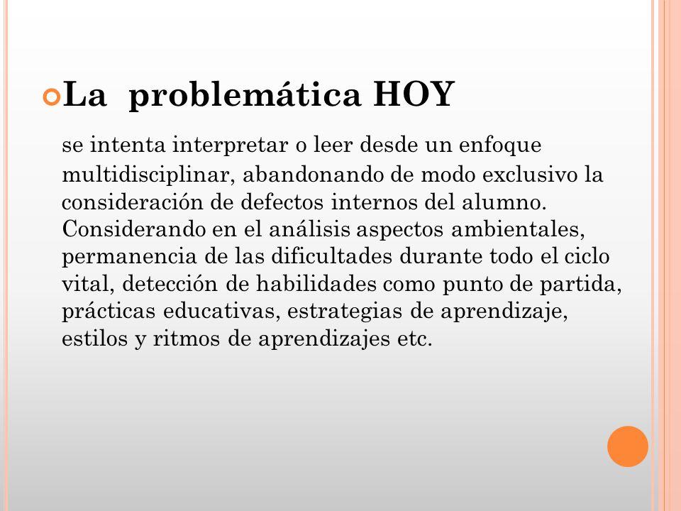 La problemática HOY