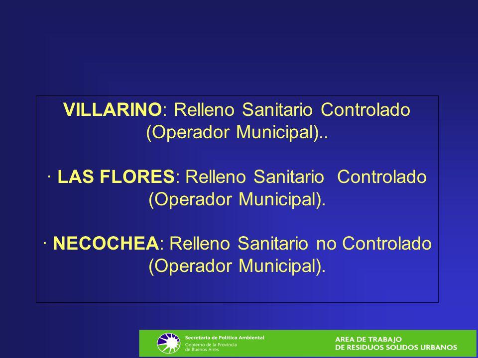 VILLARINO: Relleno Sanitario Controlado (Operador Municipal)