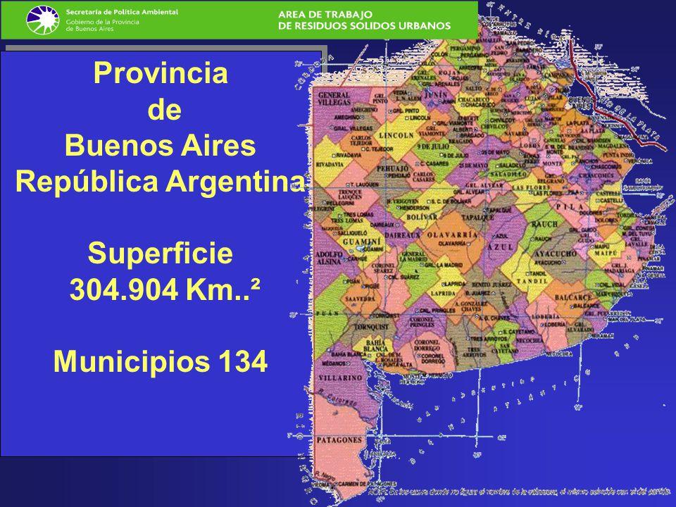 Provincia de Buenos Aires República Argentina Superficie 304. 904 Km
