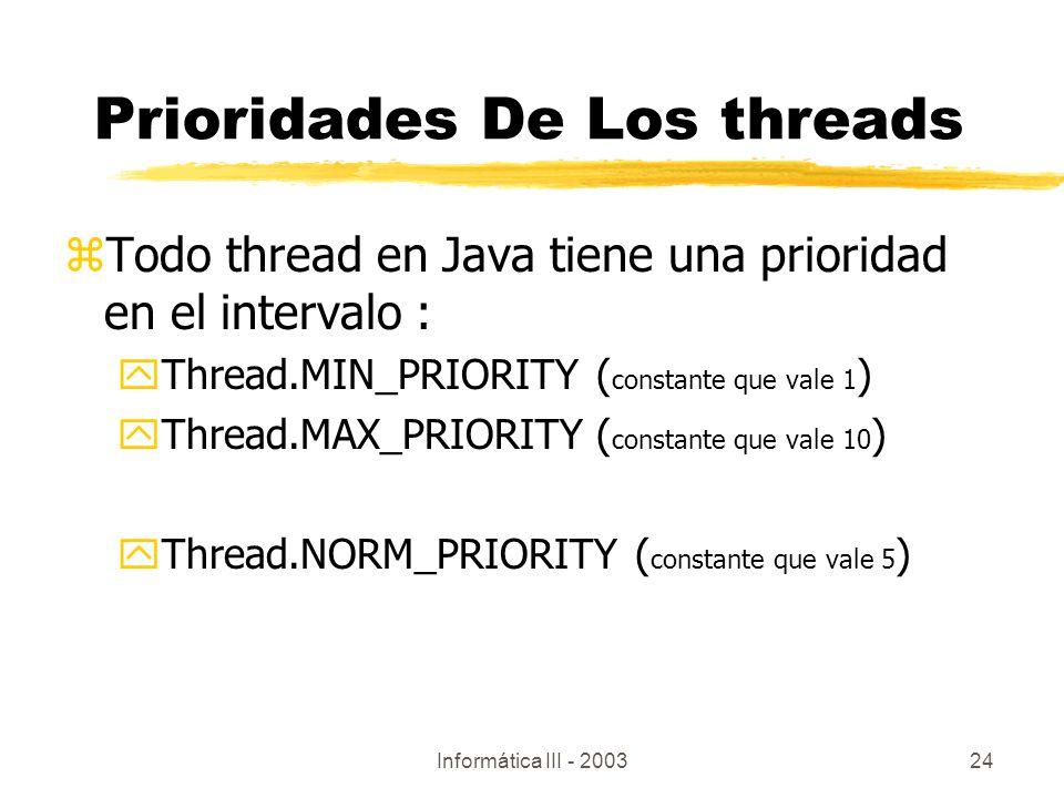 Prioridades De Los threads