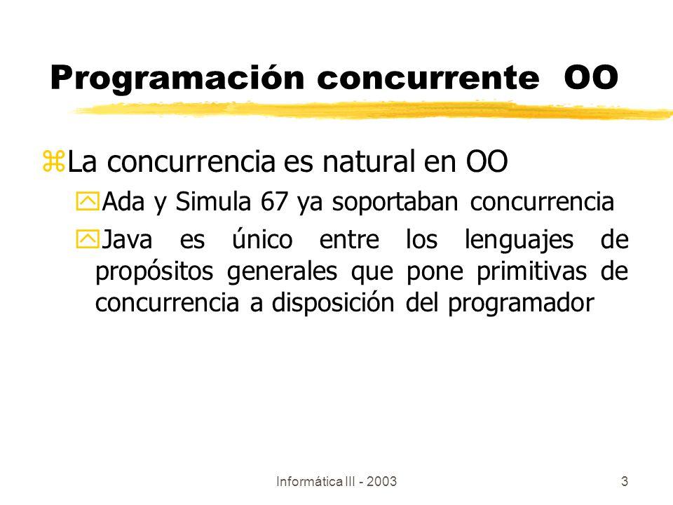 Programación concurrente OO