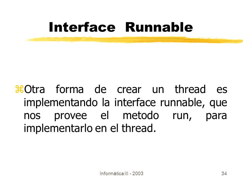 Interface Runnable