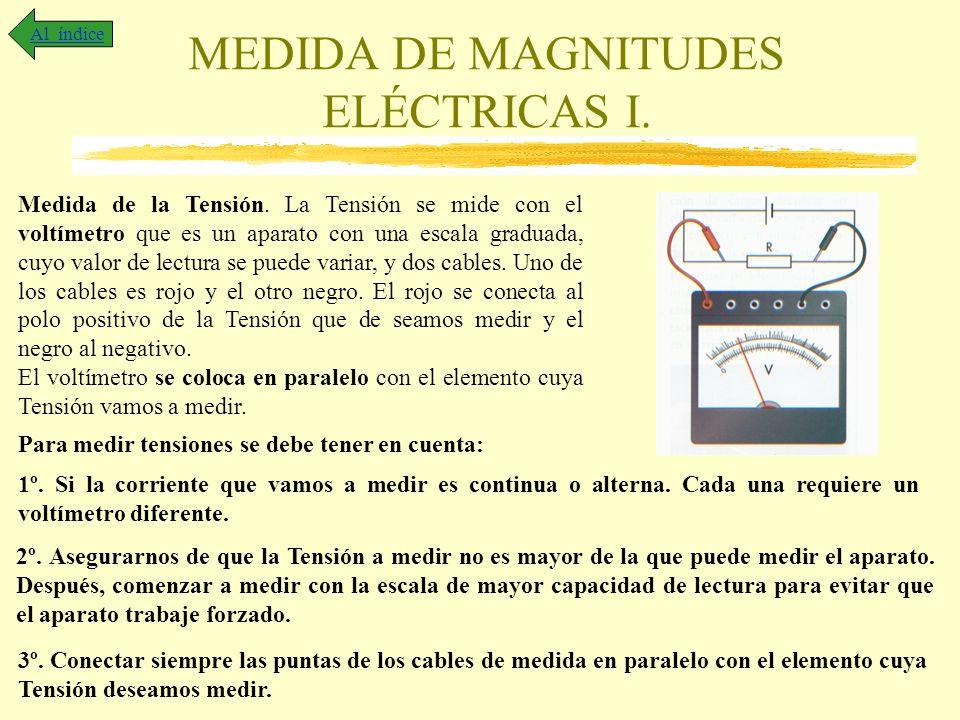 MEDIDA DE MAGNITUDES ELÉCTRICAS I.