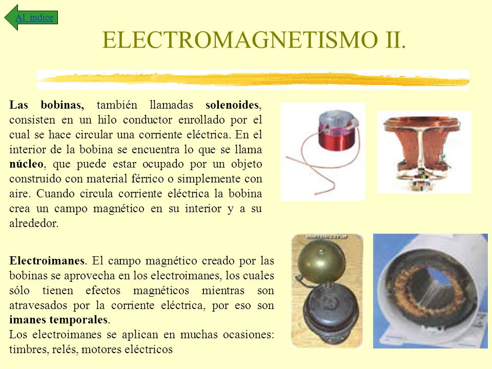 Al índice ELECTROMAGNETISMO II.