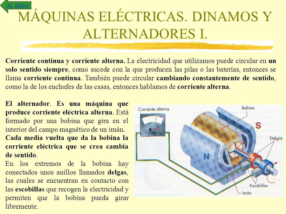 MÁQUINAS ELÉCTRICAS. DINAMOS Y ALTERNADORES I.