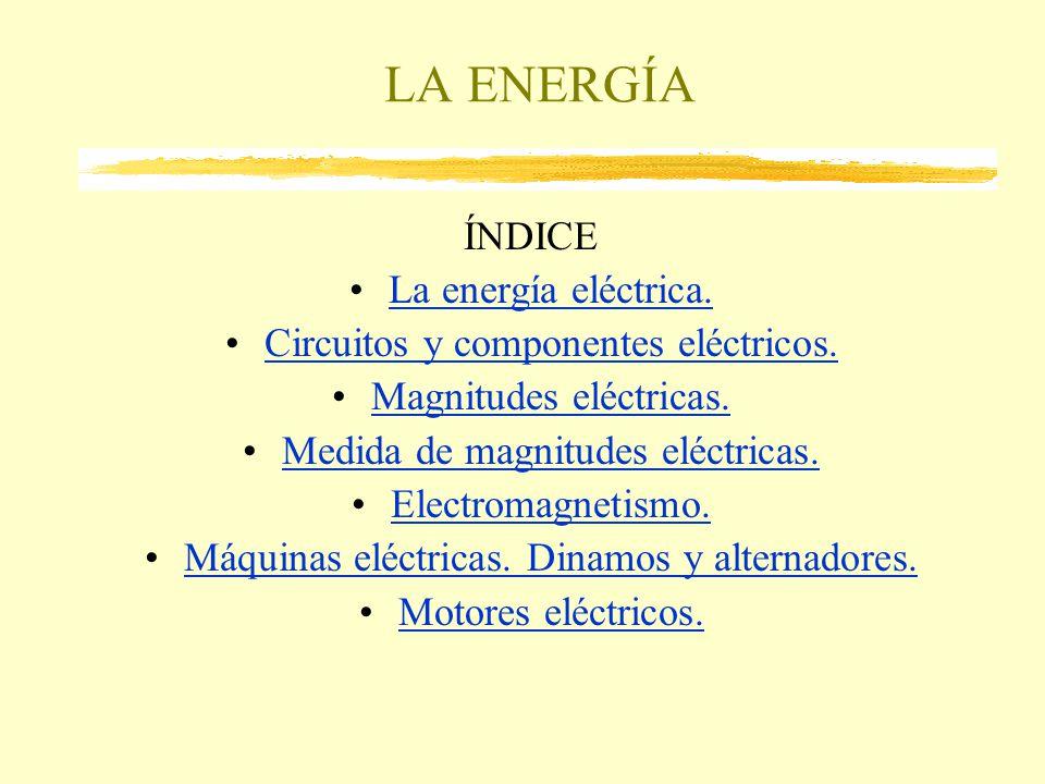 LA ENERGÍA ÍNDICE La energía eléctrica.