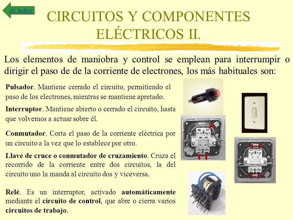 CIRCUITOS Y COMPONENTES ELÉCTRICOS II.