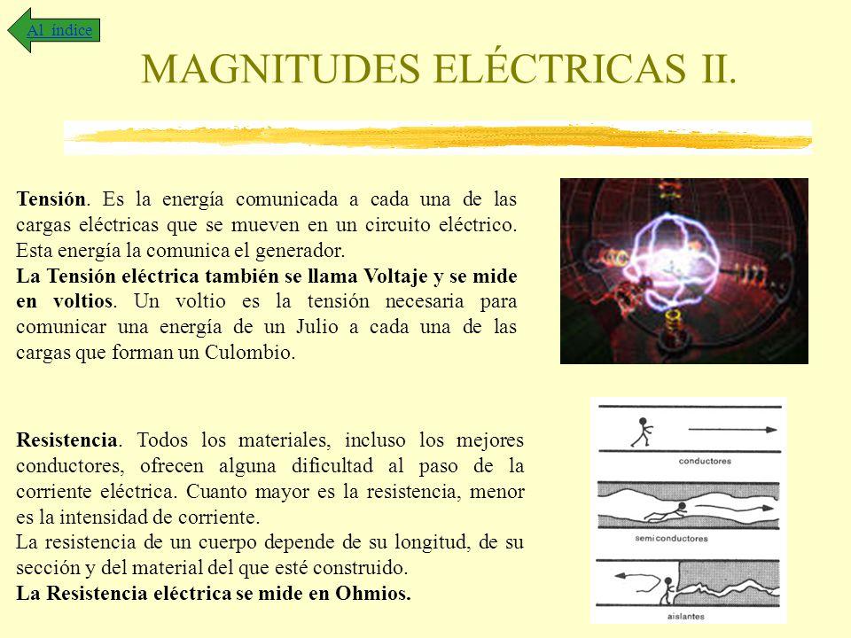 MAGNITUDES ELÉCTRICAS II.