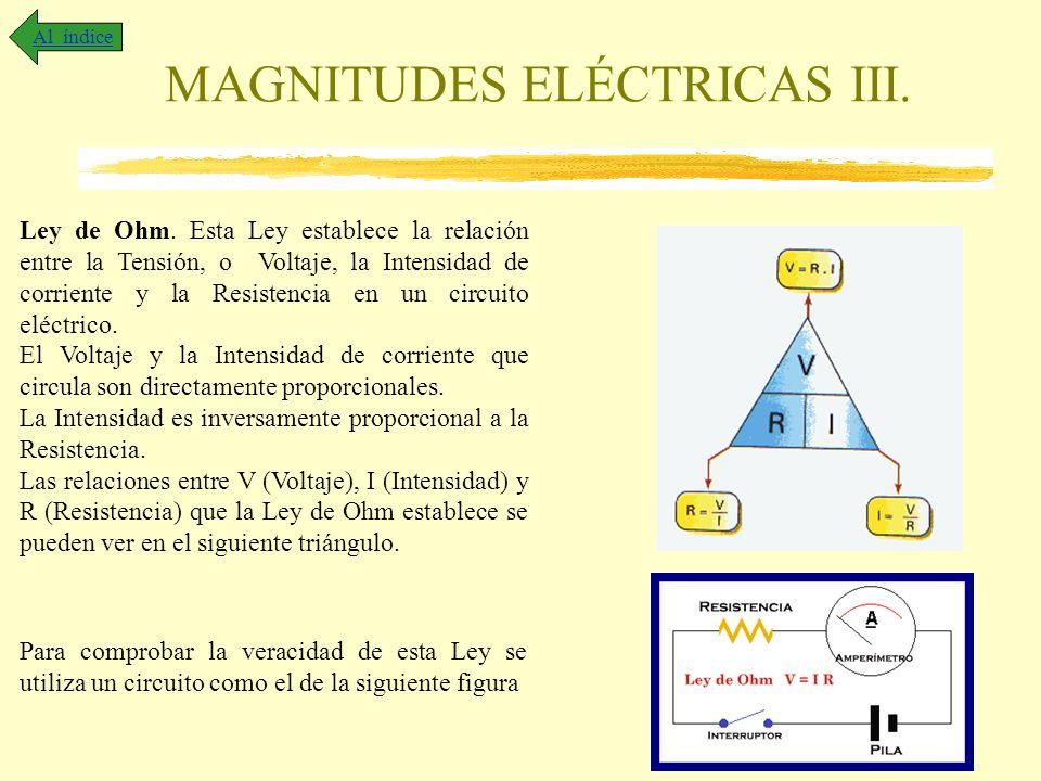 MAGNITUDES ELÉCTRICAS III.