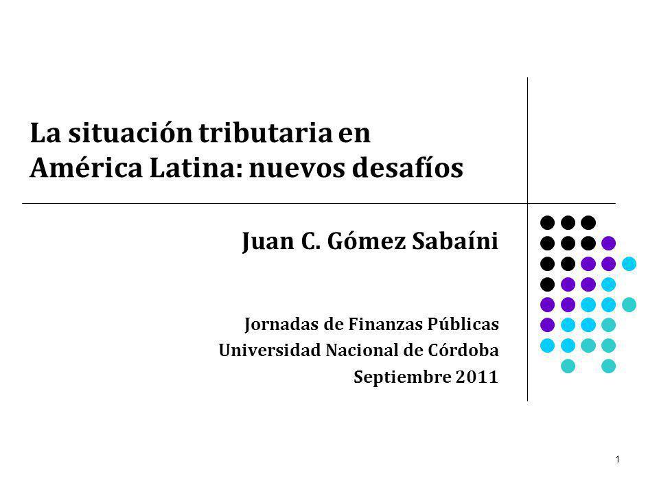 La situación tributaria en América Latina: nuevos desafíos
