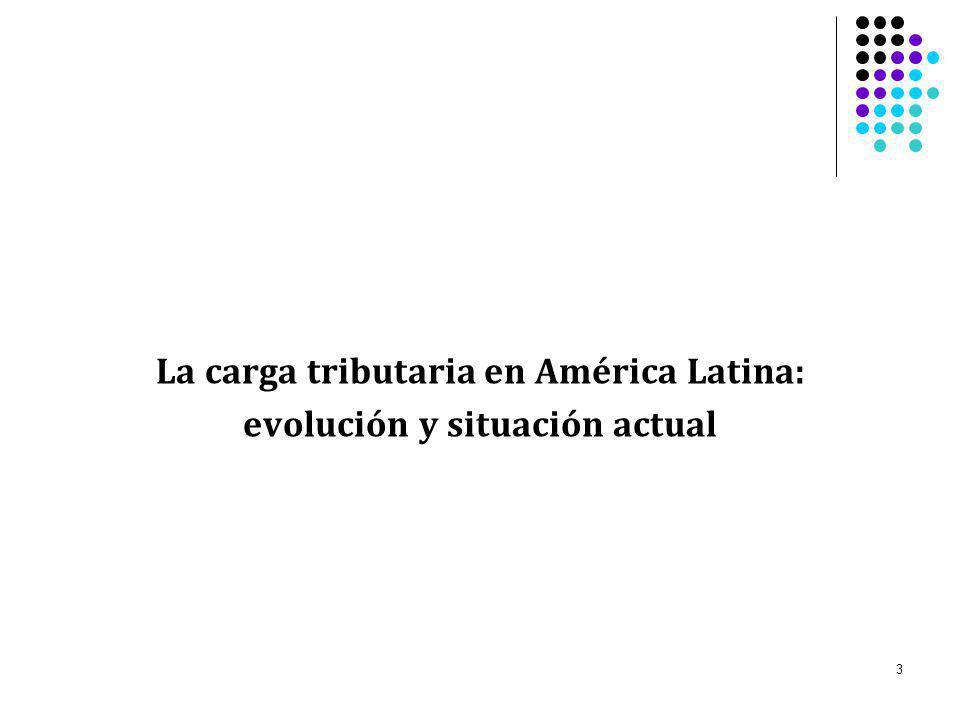La carga tributaria en América Latina: evolución y situación actual