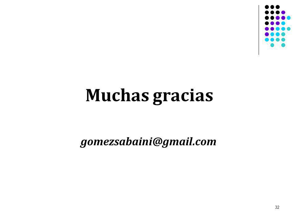 Muchas gracias gomezsabaini@gmail.com